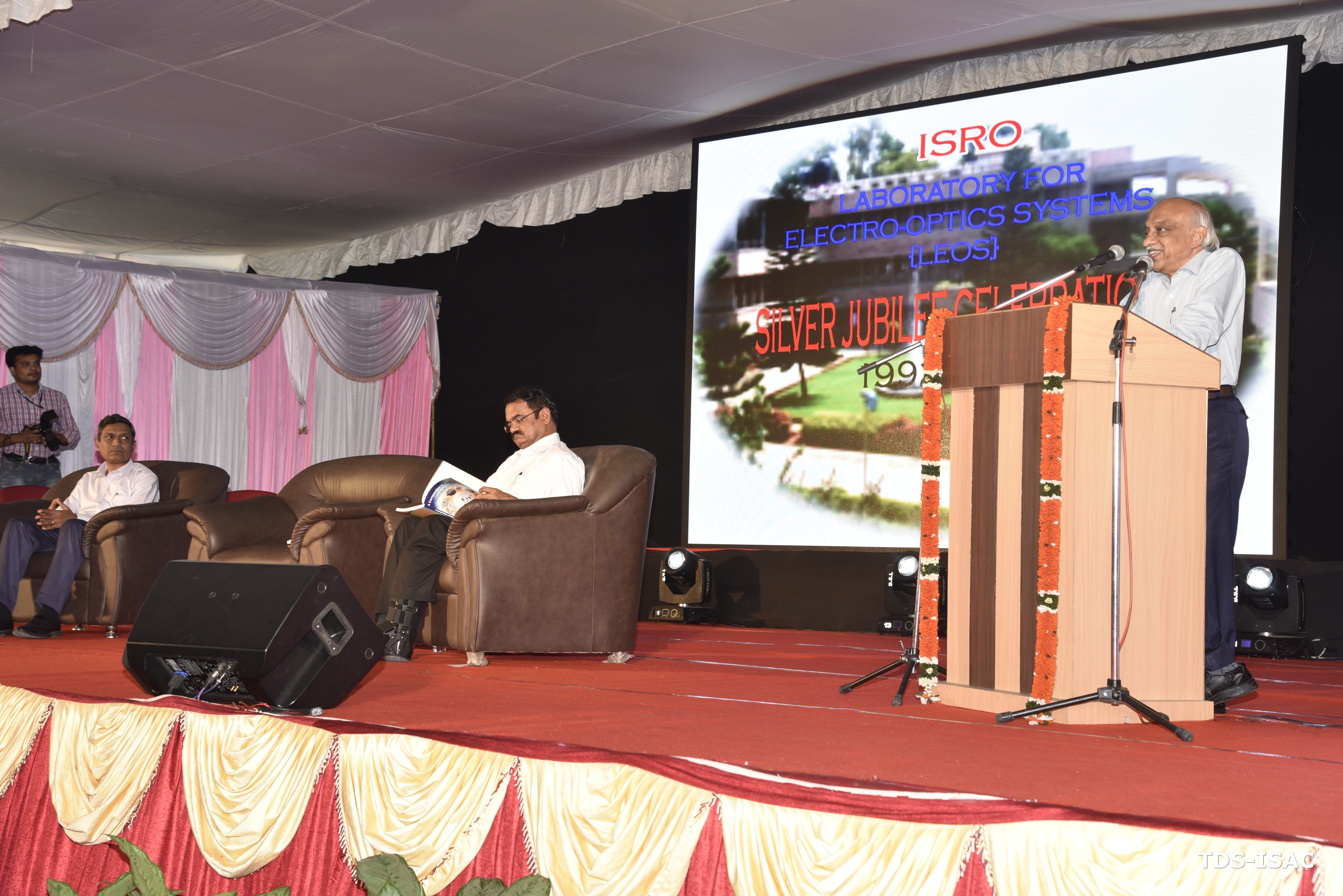 Chairman ISRO addressing during  SJC