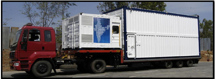 ETS mounted on Air Suspended Trailer along with Environmental Control and Monitoring System (ECMS)