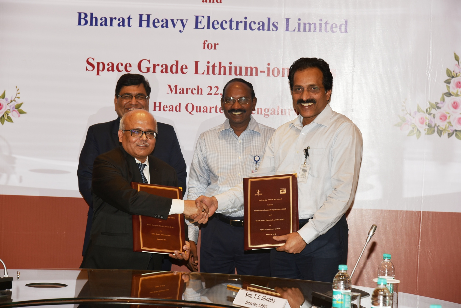 TTA Signing ceremony in presence of Mr Atul Sobti, CMD, BHEL and Dr K Sivan, Chairman, ISRO