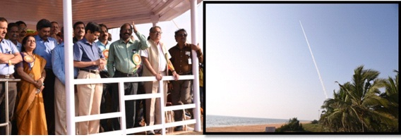 Chairman,ISRO and other dignitaries witnessed the RH-200 Launch