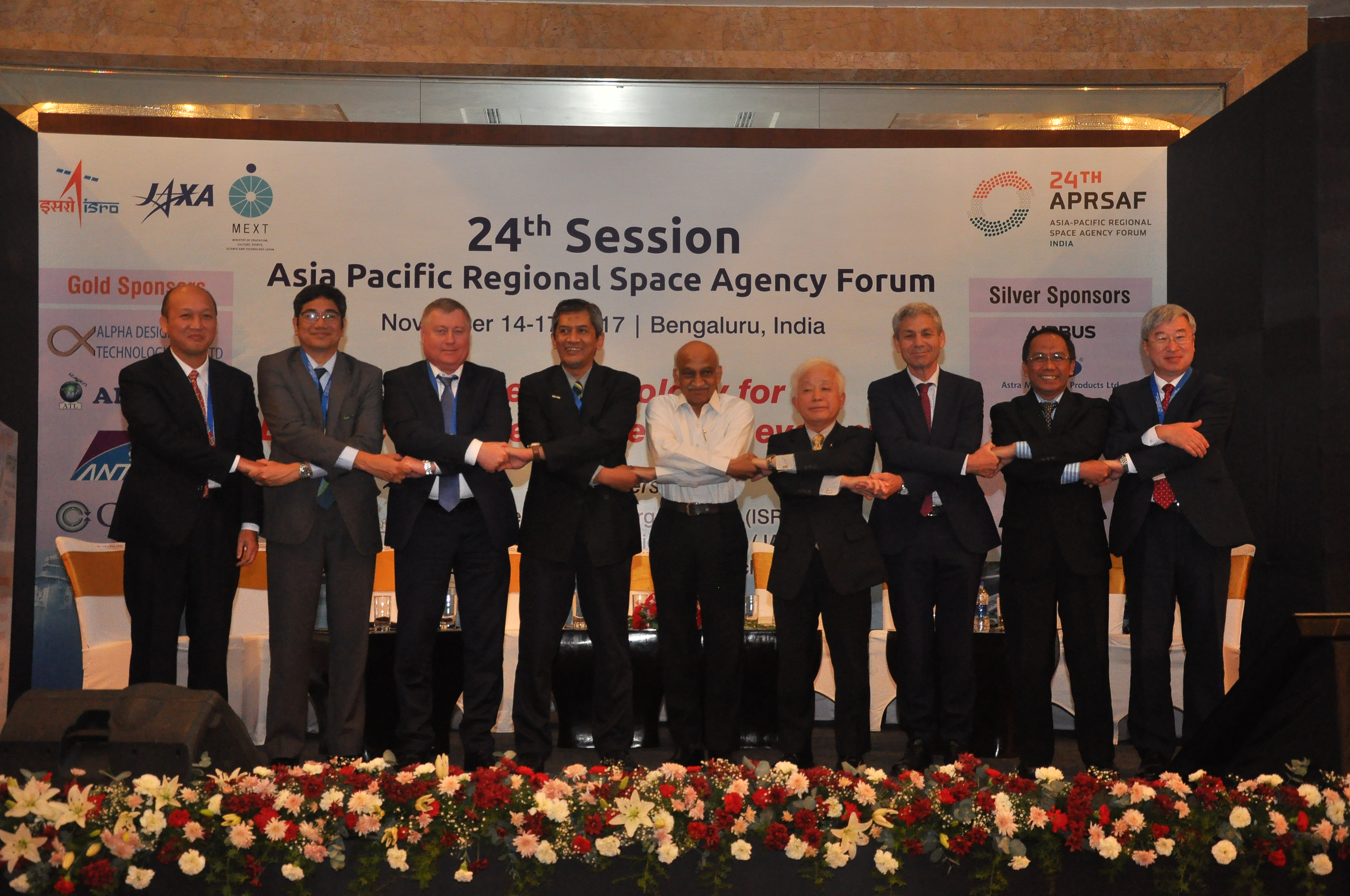 Heads of Space Agencies of Asia-Pacific Countries during the Plenary of APRSAF-24