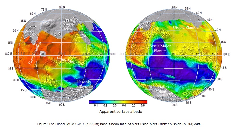 The Global MSM SWIR band albedo map of mars