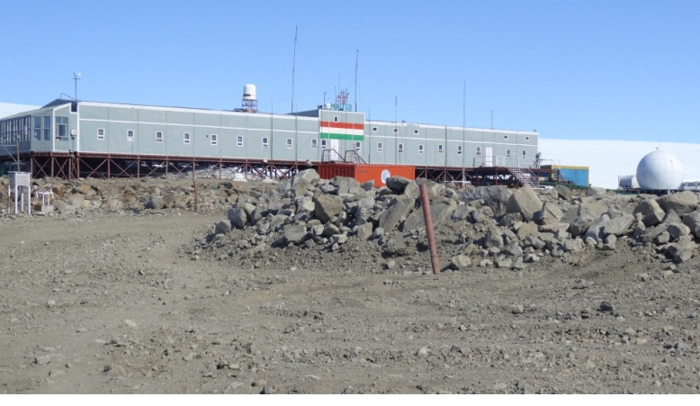 A View of Maitri Station, Antarctica