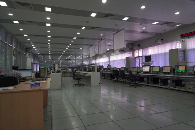 Inside view of Satellite Control Centre