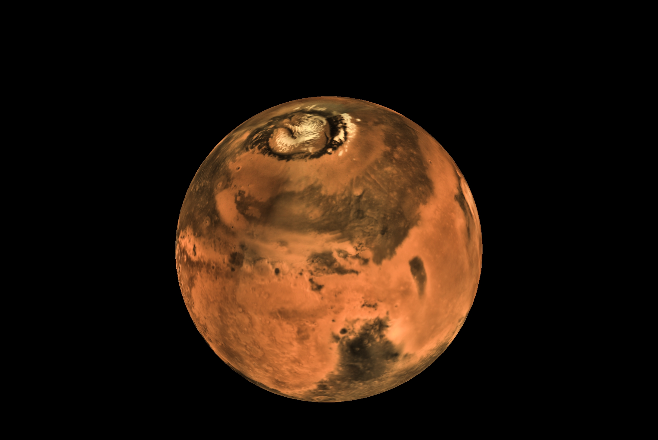 Mars global mosaic image