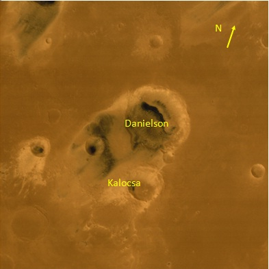 Danielson and Kalocsa craters