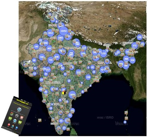 Mobile Apps-based geotagged data with field photos currently on Bhuvan platform