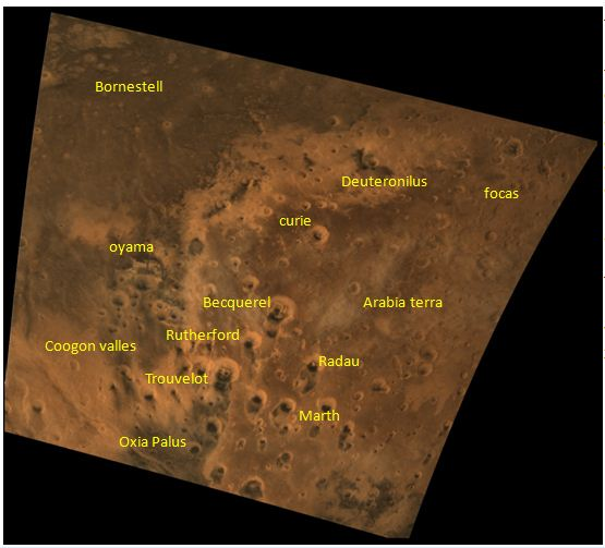 MCC snapshot covering large region of mars