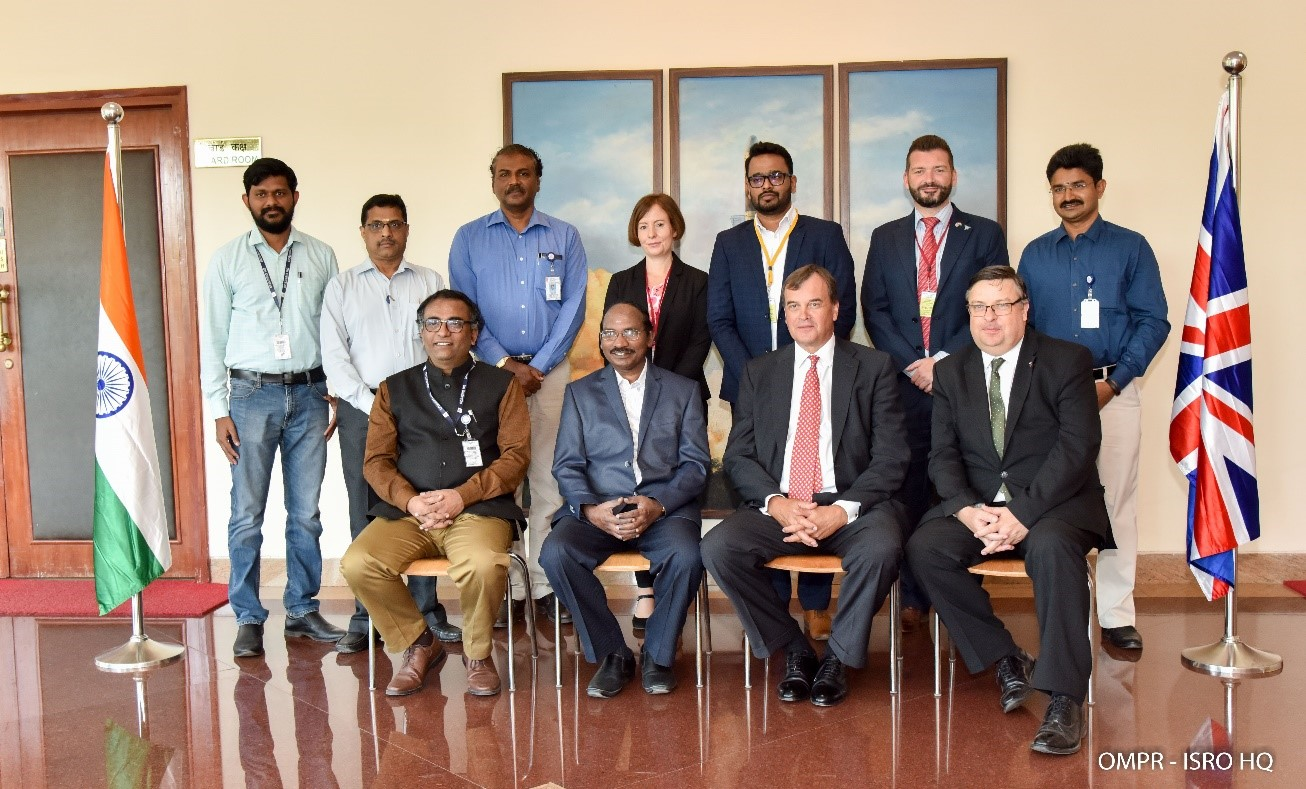 Sir Dominic Asquith, British High Commissioner to India visited ISRO HQ on February 21, 2019 and had discussions with Dr.K.Sivan, Chairman ISRO/ Secretary DOS.