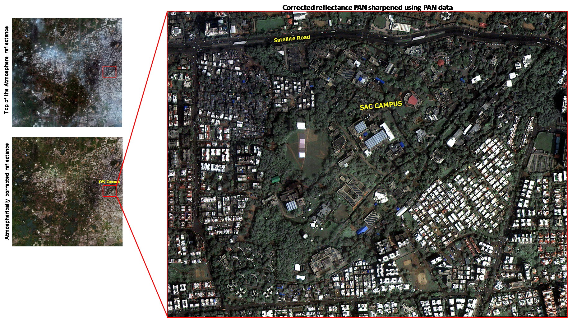 Cartosat-2 Series Satellite View of Ahmedabad , Satellite Area on 03/11/2016