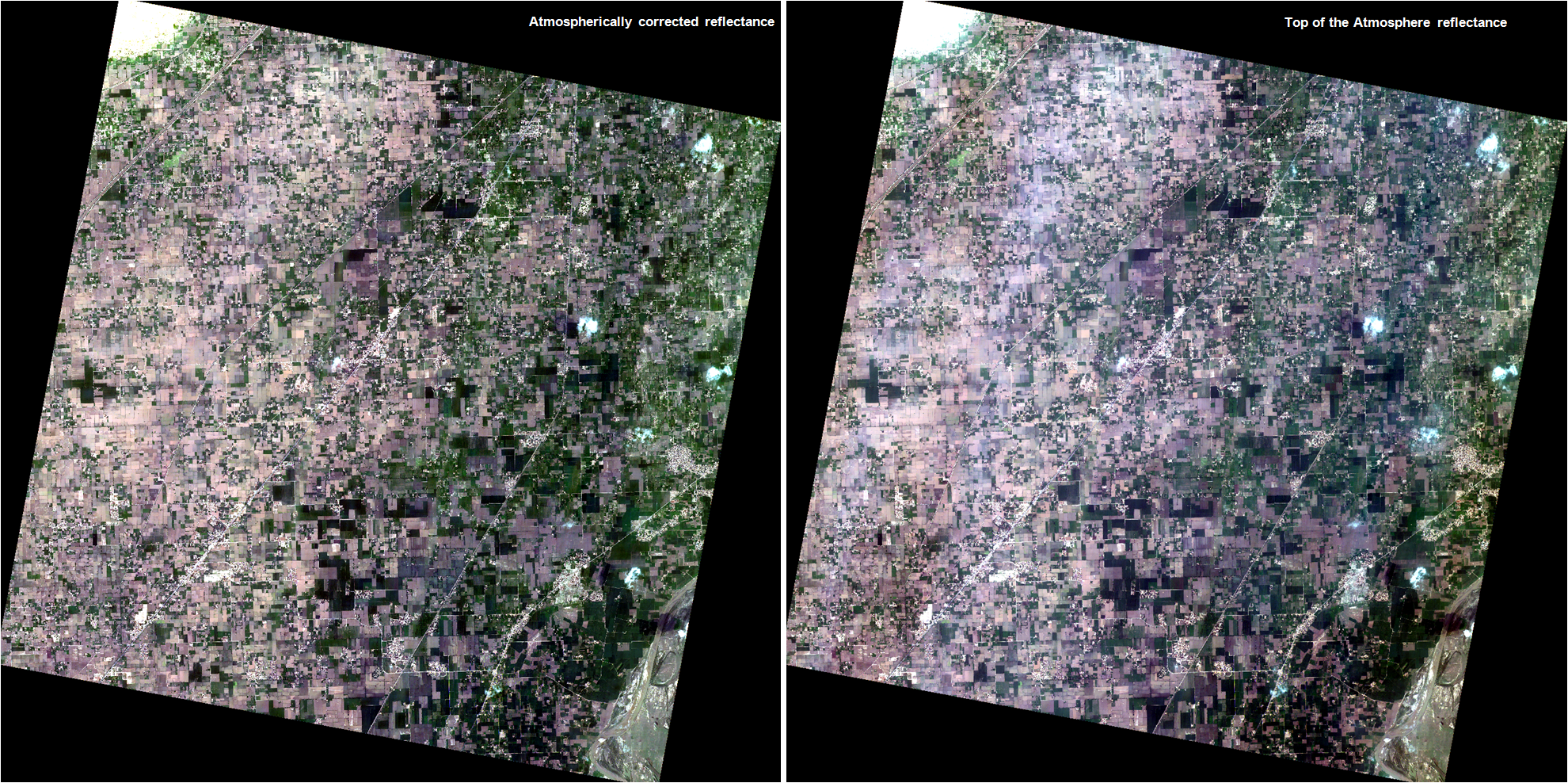 Cartosat-2 Series Satellite View of Jhang District in the Punjab Province of Pakistan on 01/07/2017