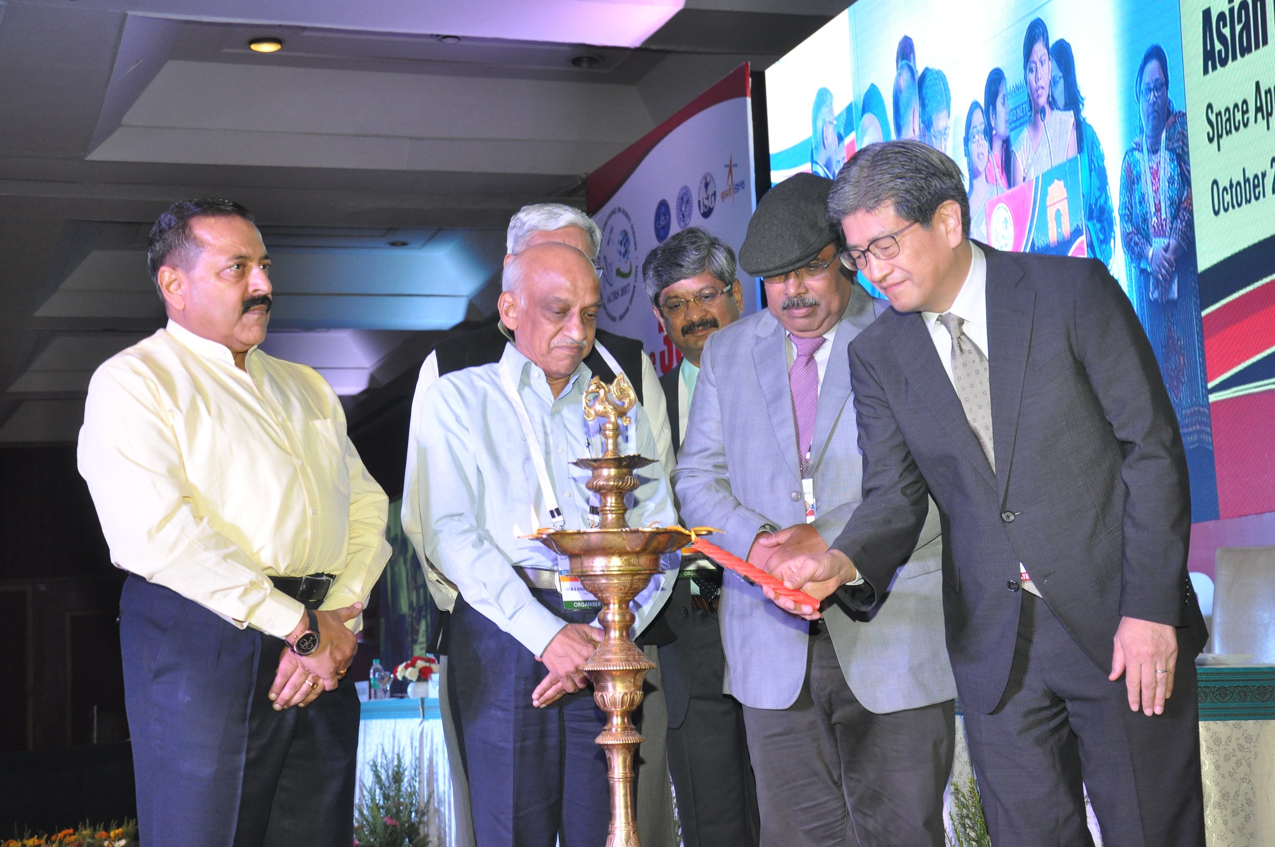 Conference started with Lightening of the Lamp