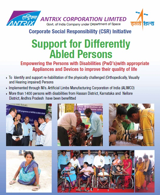 Support for differently abled Persons
