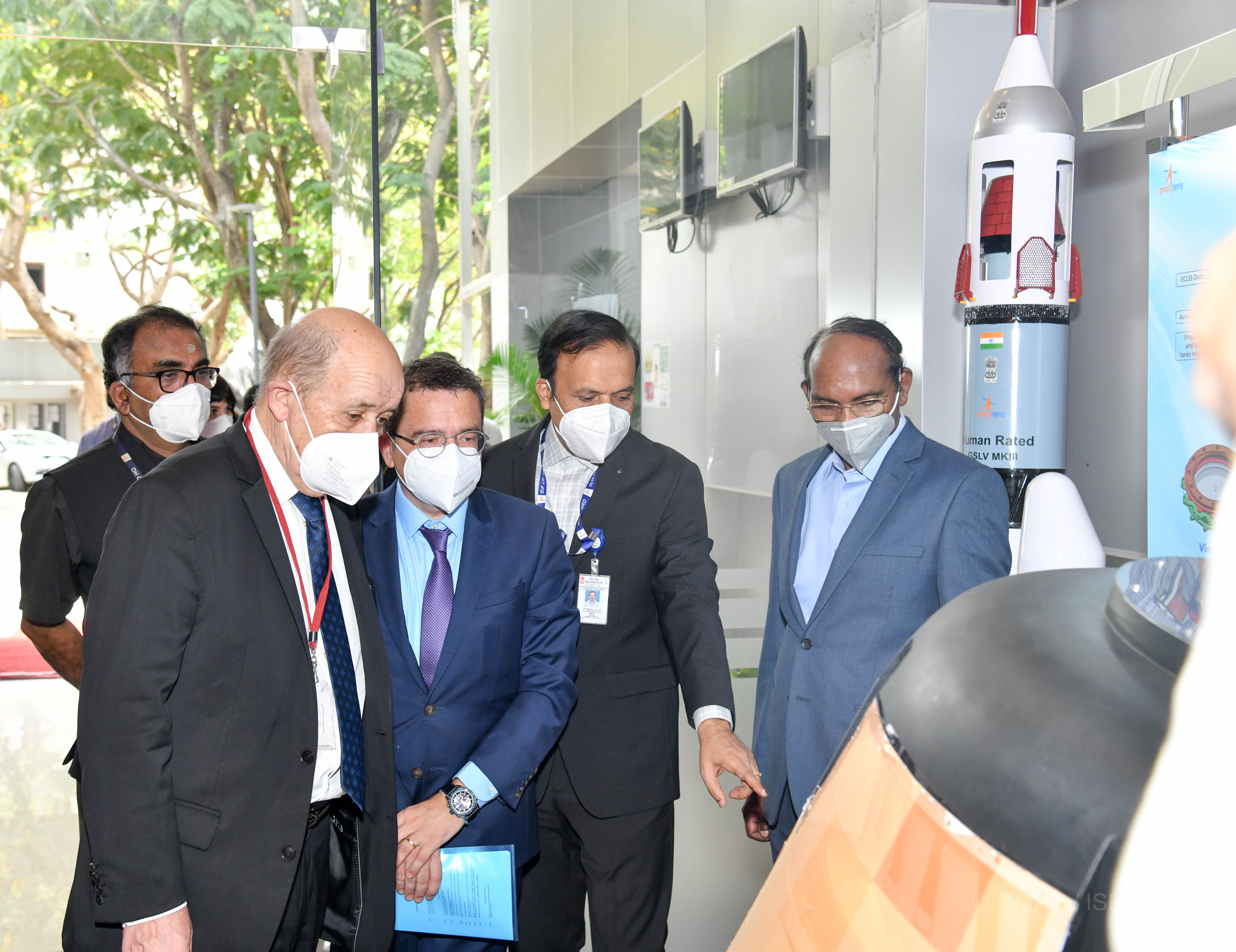 French Minister has visited ISRO Headquarters and HSFC on April 15, 2021