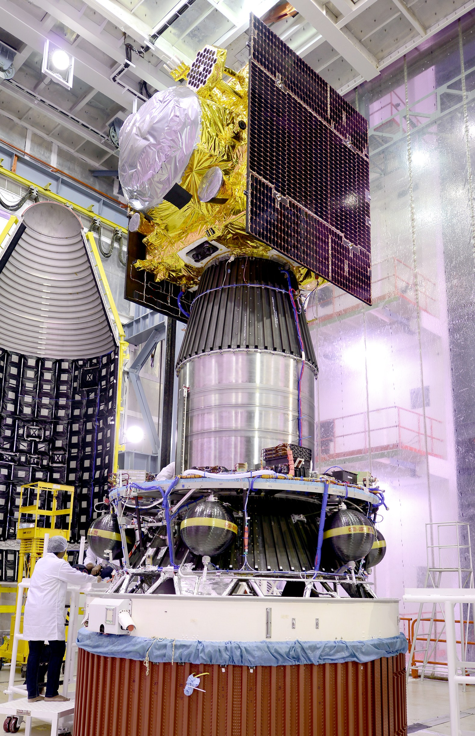 IRNSS-1F integrated with PSLV-C32
