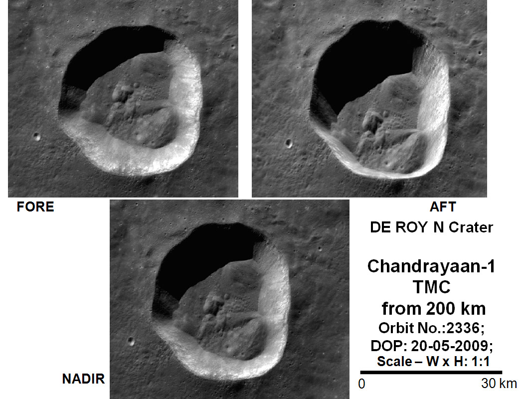 Pslv C11 Chandrayaan 1 Gallery Isro 7 Pole Trailer Wiring De Roy N Crater Viewed By Tmc From 200 Km Orbit On 20 May 2009