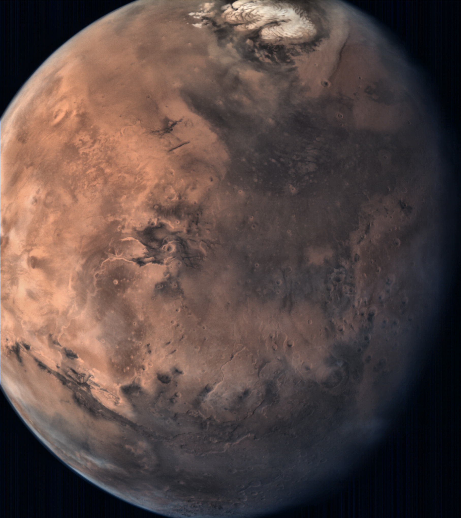 Pictures From Mars Colour Camera (MCC) Onboard India's