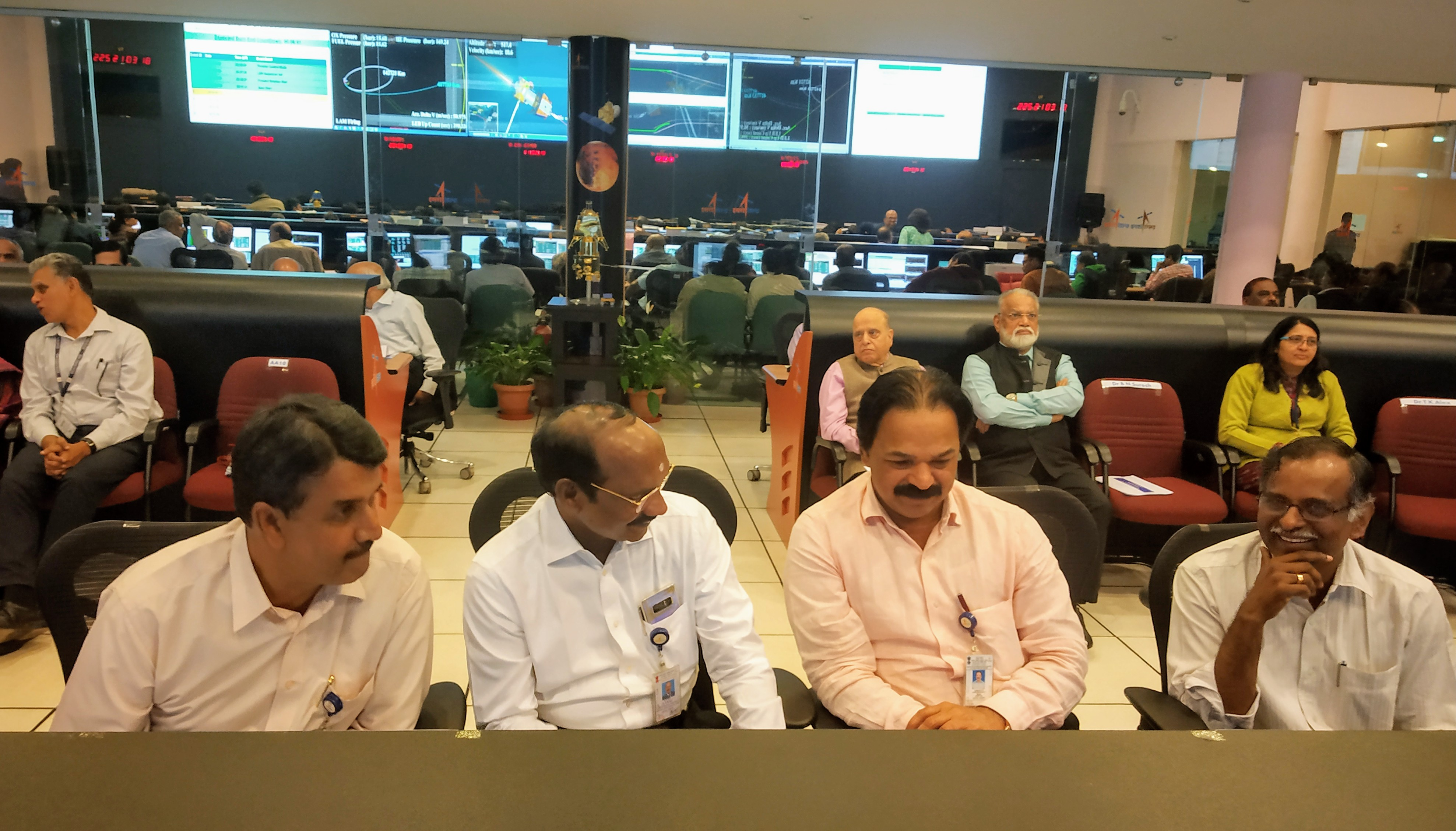 Final orbit raising manoeuvere of Chandrayaan-2 spacecraft at Mission Operation Complex (MOX) at ISTRAC