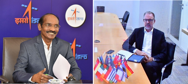 Chairman, ISRO/Secretary, DOS had a meeting with the new Director General of European Space Agency