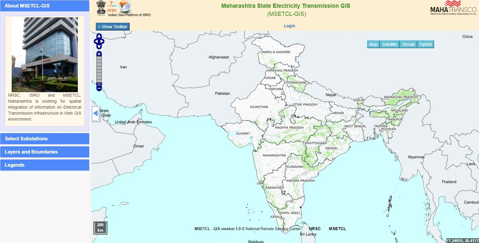 Maharasta State Electricity Transmission GIS