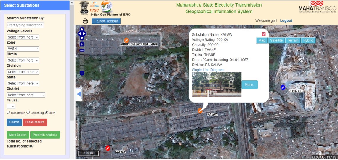 Maharasta State Electricity Transmission Geographical information System