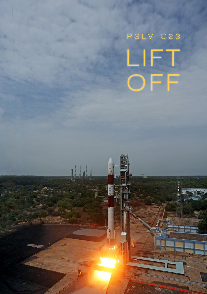 PSLV-C23 Lift off