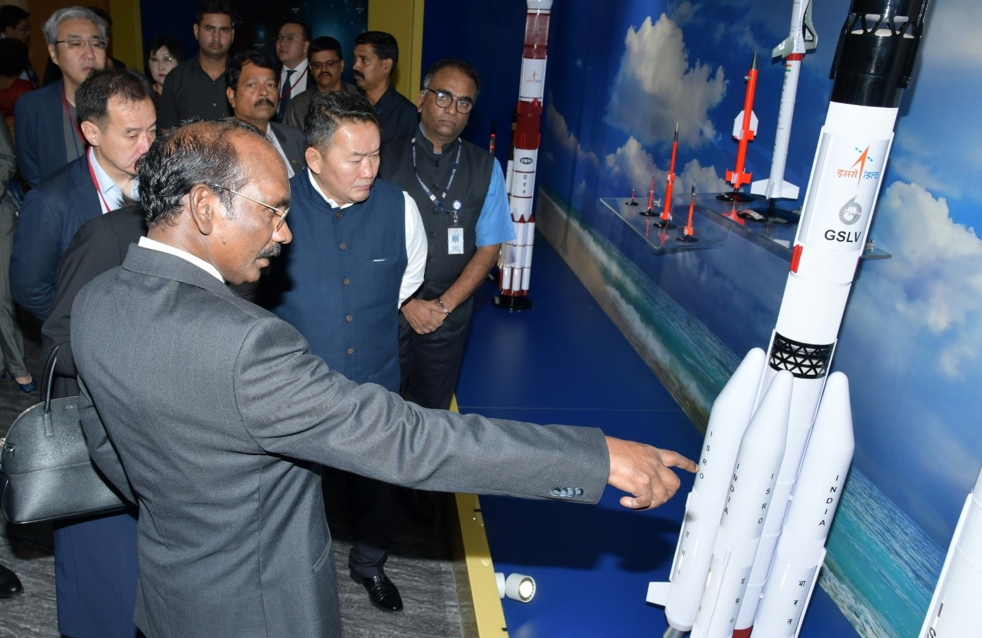 President of the Republic of Mongolia, H.E. Khaltmaagiin Battulga visited ISRO Headquarters, Bangalore on September 23, 2019