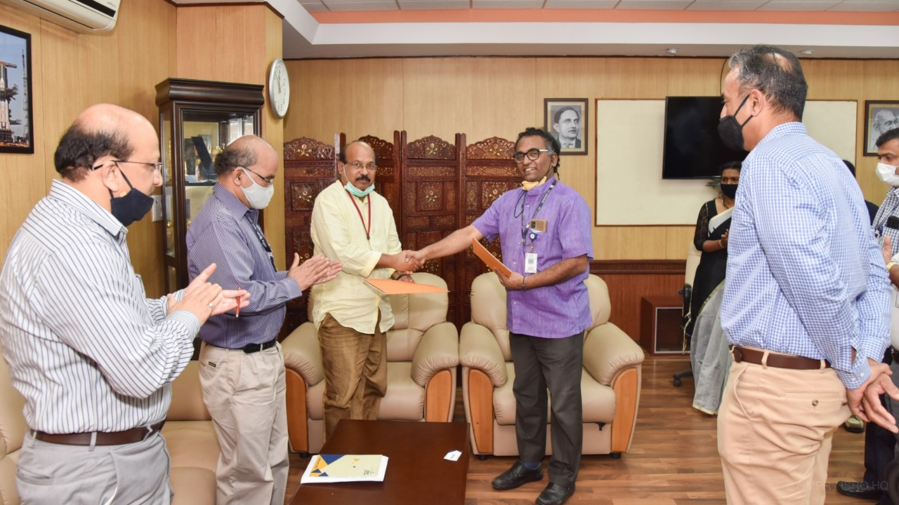 DOS signed MOU with Consortium of Jeppiaar Institute of Technology, Chennai, GH Raisoni College of Engineering, Nagpur and Sri Shakthi Institute of Engineering & Technology, Coimbatore for testing UNITYsat at URSC