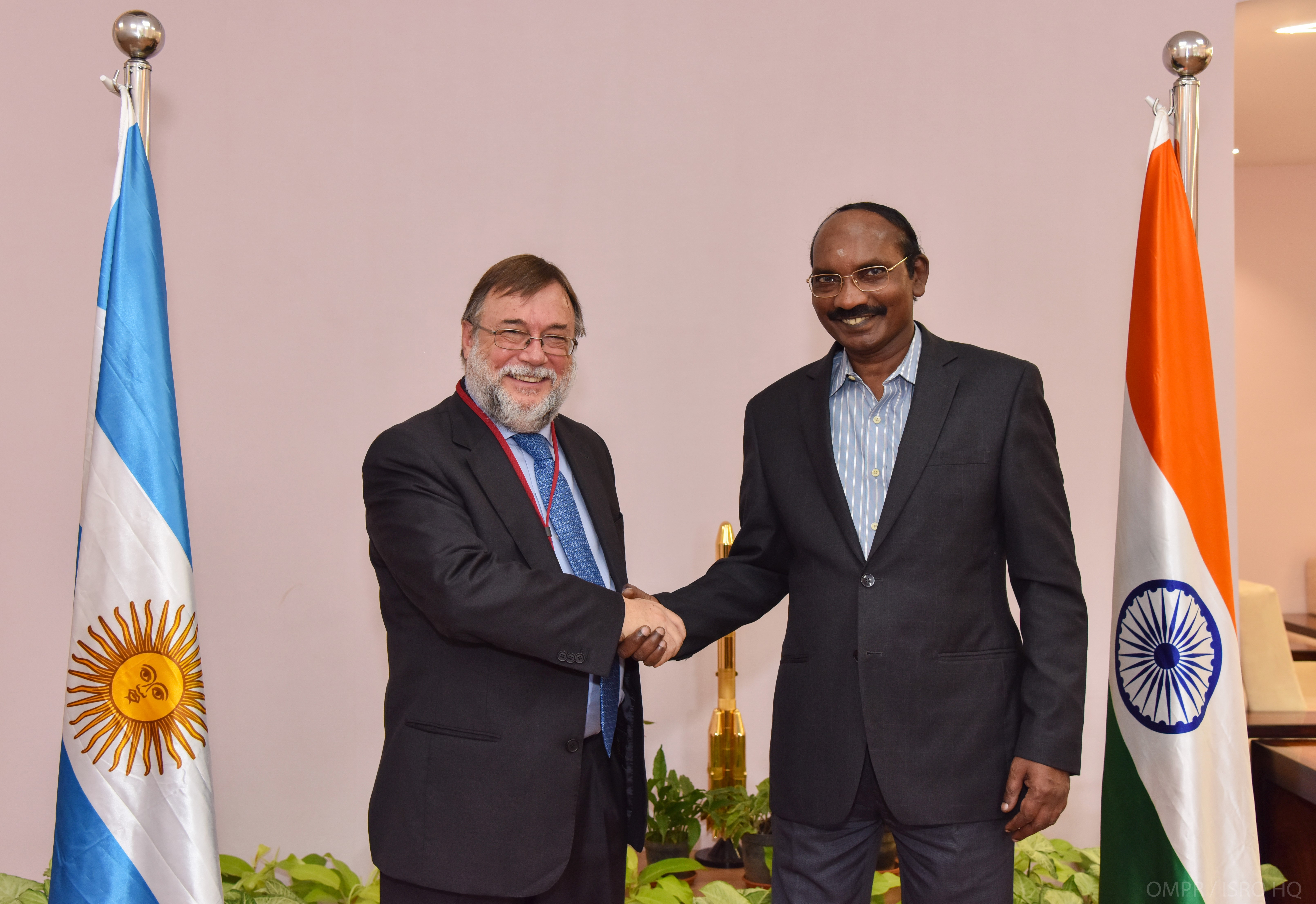 Ambassador of the Argentine Republic met Dr. K. Sivan Chairman, ISRO/ Secretary, DOS