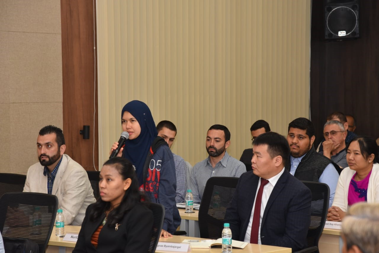 Participant during introductory session on January 15, 2019