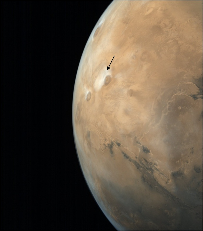 Latest image of Mars taken by MCC