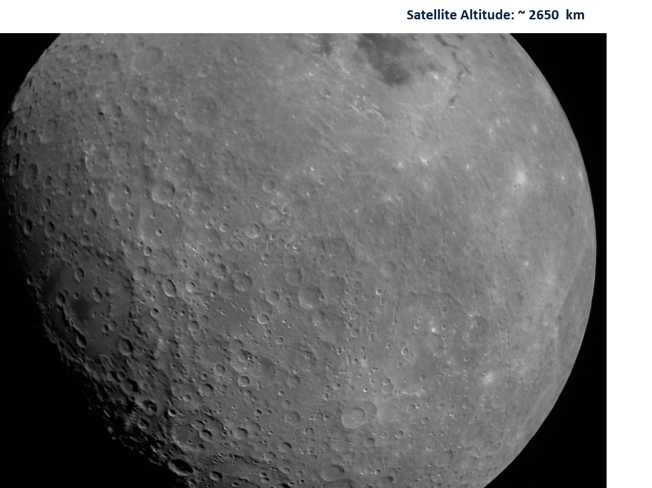 Moon as viewed by Chandrayaan-2 LI4 Camera on 21 August 2019 19:03 UT