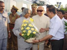 A.P.J. Abdul Kalam arrived at Satish Dhawan Space Centre SHAR