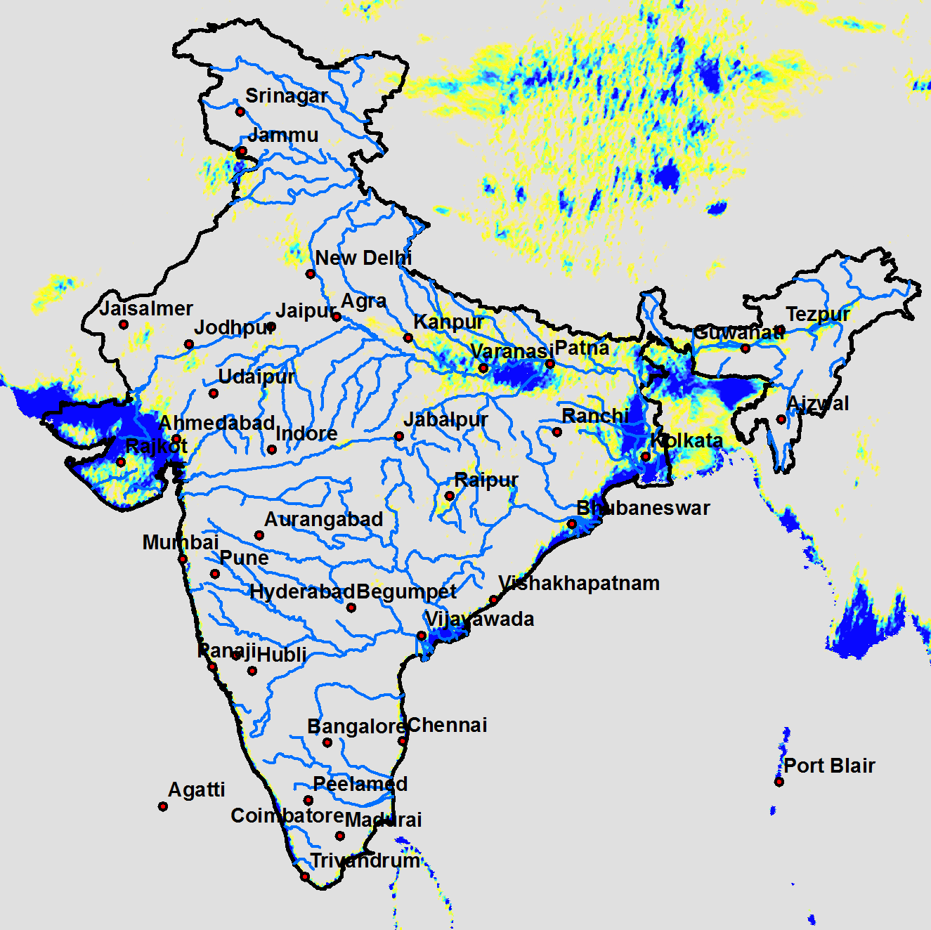 SCATSAT-1 based inundation pattern over India during 24-26 July 2017