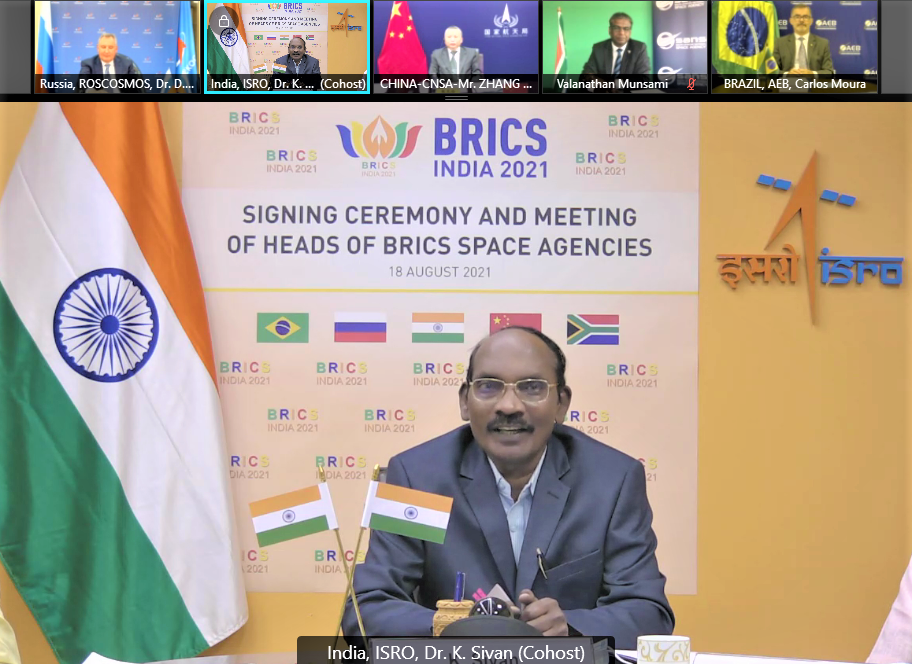 BRICS Space Agencies leaders signed  Agreement for cooperation in Remote sensing satellite data sharing