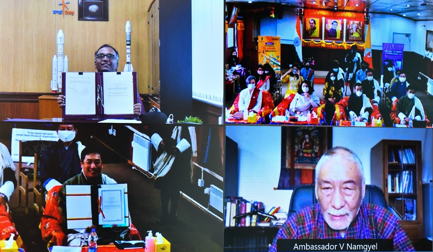 Signing of Implementing Arrangement on the Joint Development of a Small Satellite for Bhutan