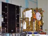 INSAT-3D in clean room at Bangalore with its solar panel deployed