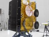 INSAT-3D with solar panel in stowed condition