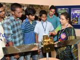 School children at Exhibition Stalls of NRSC Balanagar & Jeedimetla campuses and learning from NRSC Scientists