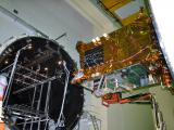 GSAT-19 being prepared for Thermal Vacuum Test