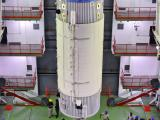 Hoisting of GSLV-F05 Second Stage during Vehicle Assembly