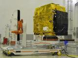 ASTROSAT DURING A PRE-LAUNCH TEST IN A CLEAN ROOM