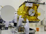 GSAT-5P Satellite undergoing prelaunch checks