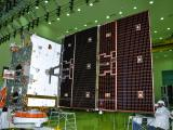 Solar array deployment test of GSAT-9