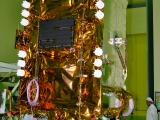 GSAT-9 undergoing test in clean room at ISAC