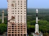 GSLV-F09 being moved from Vehicle Assembly Building to Launch Pad