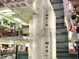 Strap-Ons are being integrated with Core Stage of GSLV-F09 at the Vehicle Assembly Building