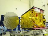 Close up view of GSAT-14 in clean room