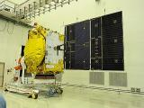Solar Array Deployment Test of GSAT-14 in progress