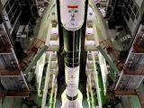 Fully integrated GSLV-D5 in the Vehicle Assembly Building